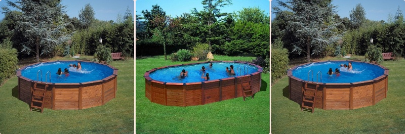 Piscine en acier semi enterree piscine star enterr e for Piscine en bois semi enterree prix
