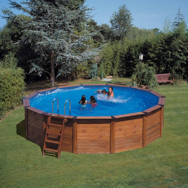 Piscine enterr e sans dalle semi enterr e lit sable for Kit piscine bois semi enterree