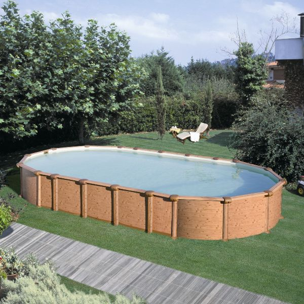 Piscine semi enterr e acier piscine hors sol semi enterr for Kit piscine bois semi enterree