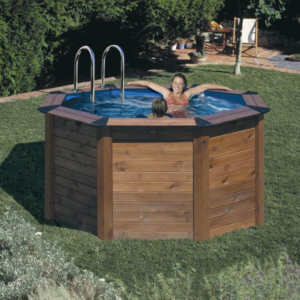 Prix piscine bois semi enterr e kit france for Kit piscine bois semi enterree