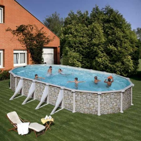 kit piscine hors sol piscine acier ovale fidji avec renforts apparents kit piscine hors sol. Black Bedroom Furniture Sets. Home Design Ideas