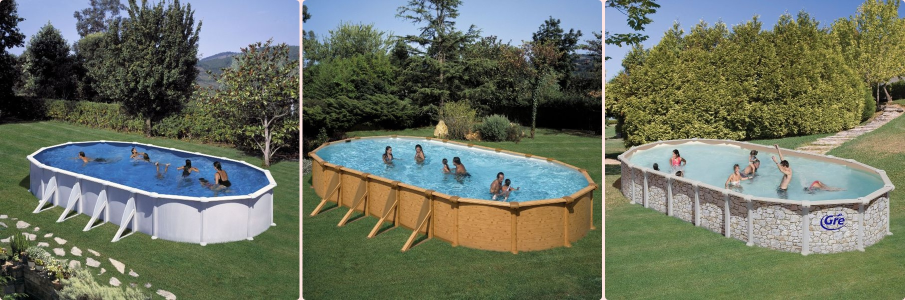 Piscine hors sol beton en kit interesting ils existe for Piscine acier enterree