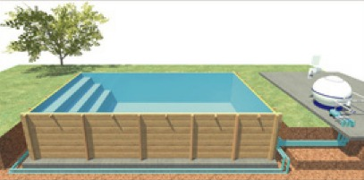 Piscine en kit bois hors sol prix et promo france for Piscine enterree en kit